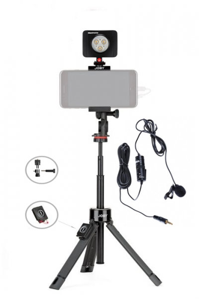 Joby GripTight PRO TelePod telescopic cu telecomanda, LED si lavaliera 0