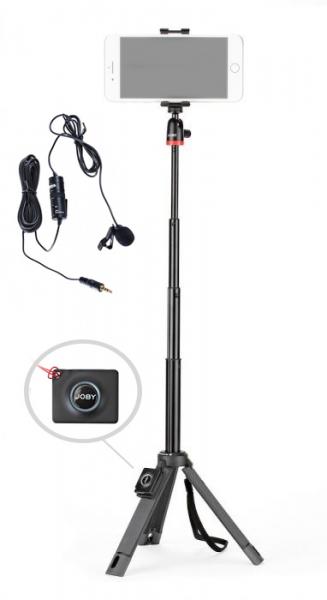 Joby TelePod Mobile Minitrepied telescopic pentru smartphone cu telecomanda si lavaliera 0
