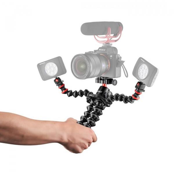 Joby GorillaPod 3K PRO Rig Kit Vlog cu 2 LED si Microfon 6