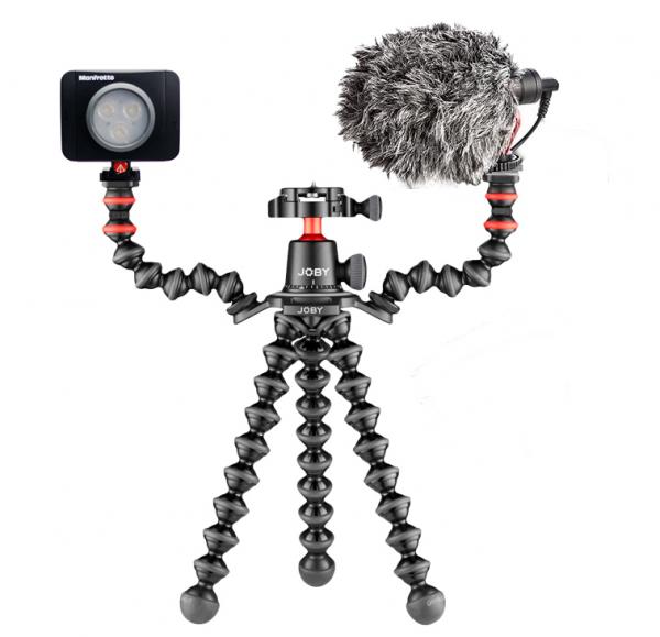 Joby GorillaPod 3K PRO Rig Kit Vlog cu LED si Microfon 0