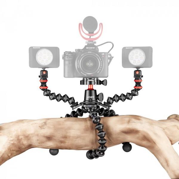 Joby GorillaPod 3K PRO Rig Kit Vlog cu 2 LED si Microfon 2