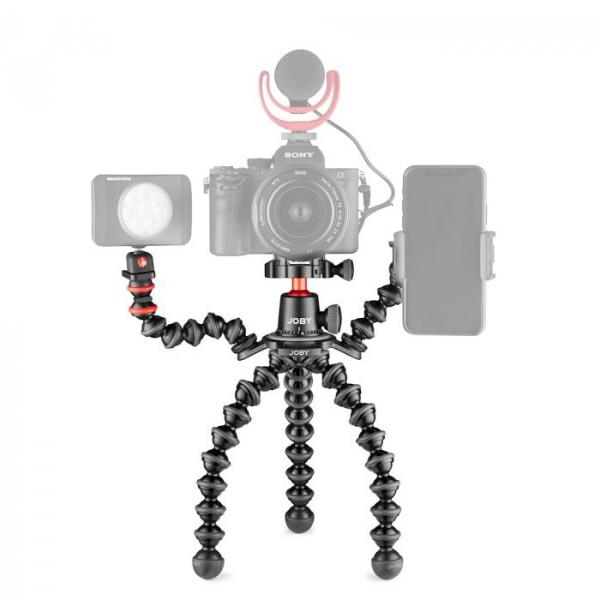 Joby GorillaPod 3K PRO Rig Kit Vlog cu 2 LED si Microfon 5