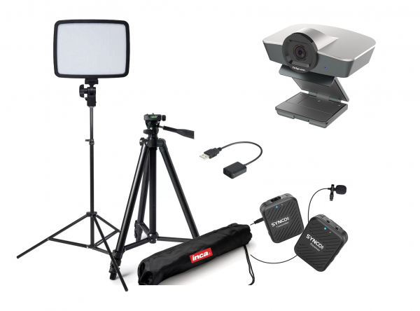 Kit Lector Camera WEB Full HD si lavaliera wireless 0
