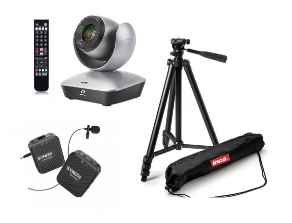 Kit Videochat PTZ Full HD Zoom 22X USB 2.0 cu lavaliera wireless si trepied [0]