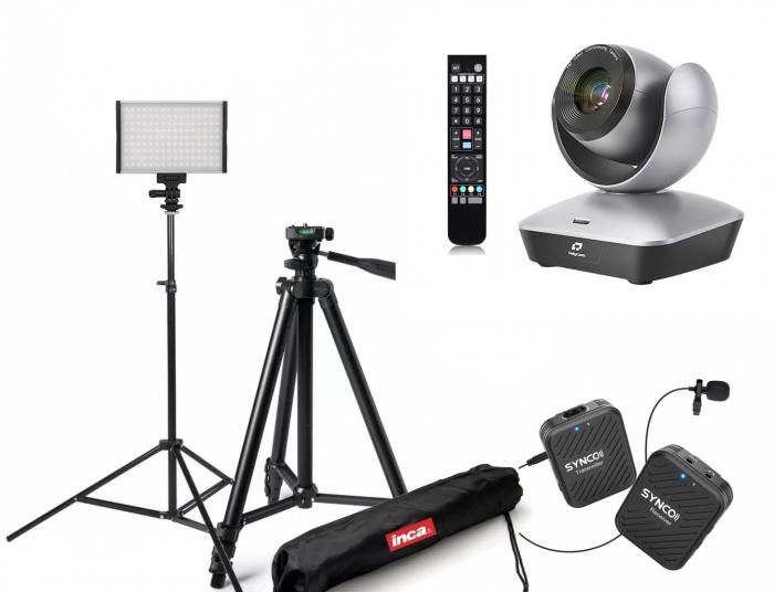 Kit Videochat PTZ Full HD 12X USB 2.0 cu lumina si microfon wireless [0]