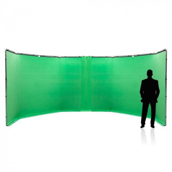Lastolite StudioLink Kit Chroma Key verde 3x3m [4]