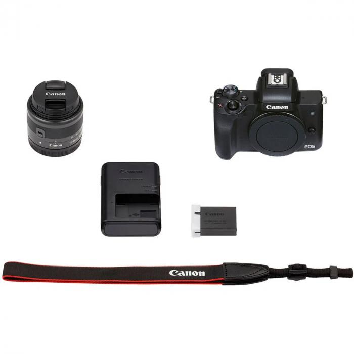 Canon EOS M50 II Aparat Foto Mirrorless 24MP Kit cu Obiectiv EF-M 15-45mm F/3.5-6.3 IS STM [5]