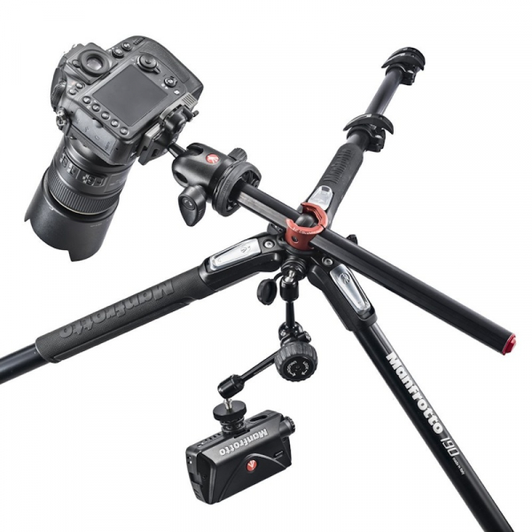 Manfrotto 190XPRO4-3W Kit trepied foto 2