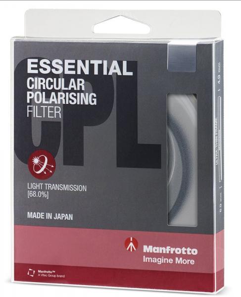 Manfrotto Filtru Polarizare Circulara Slim 72mm [1]