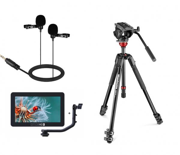 Manfrotto Kit interviu MVK500 cu Monitor si Lavaliera Dubla 0