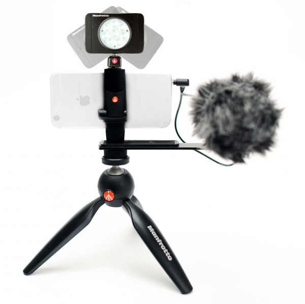 Manfrotto Kit pentru Vlogger cu minitrepied, microfon si LED 8 [0]