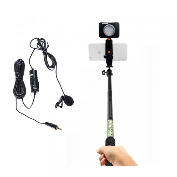 Manfrotto Kit Selfie Vlogging cu LED 3 cu Lavaliera 0
