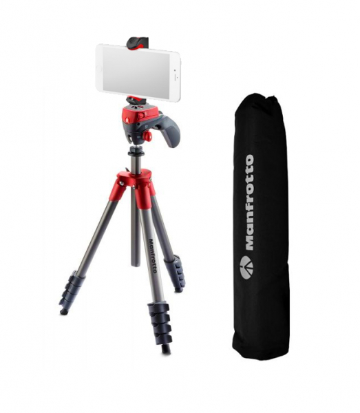 Manfrotto Action Red kit trepied cu cap foto-video hibrid 0