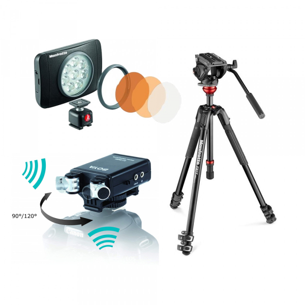 Manfrotto Kit video interviu MVK500 cu LED si microfon 0