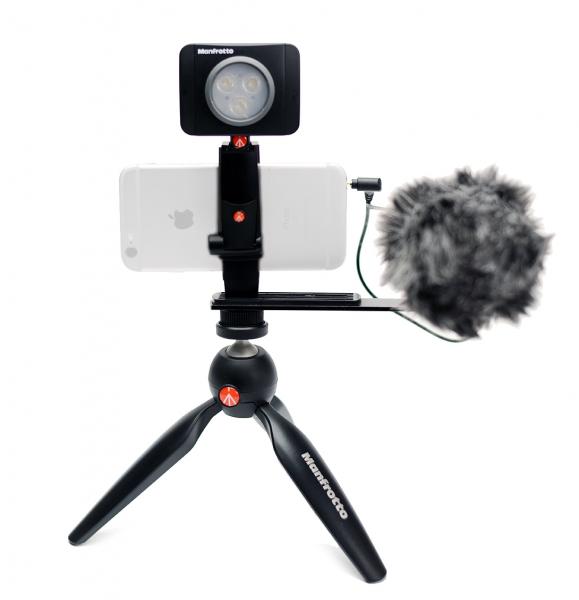 Manfrotto Kit pentru Vlogger cu minitrepied, microfon si LED 3 0