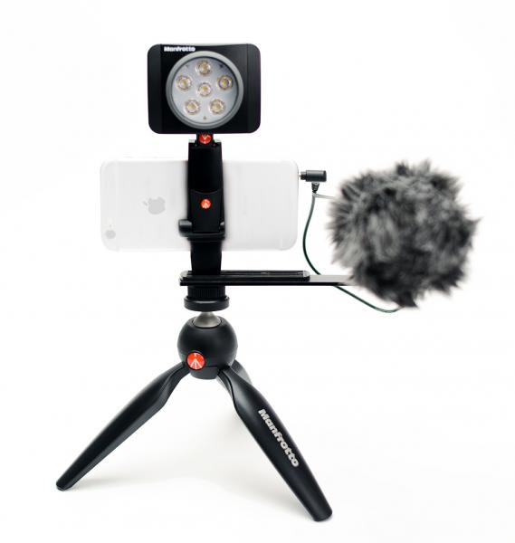 Manfrotto Kit pentru Vlogger cu minitrepied,  microfon si LED 6 0