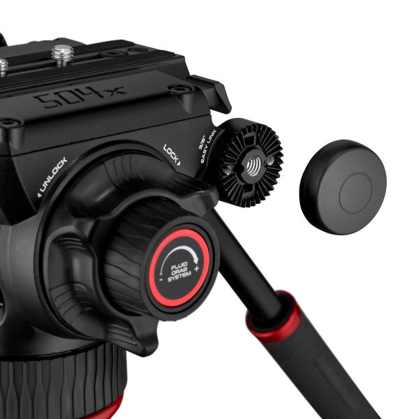 Manfrotto MVK504XTWINGC Kit Trepied video Carbon cu spreader de podea [5]