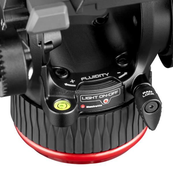 Manfrotto MVK504XTWINGC Kit Trepied video Carbon cu spreader de podea [4]