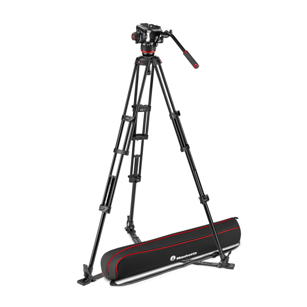 Manfrotto MVK504XTWINGA Kit Trepied video cu spreader de podea 0