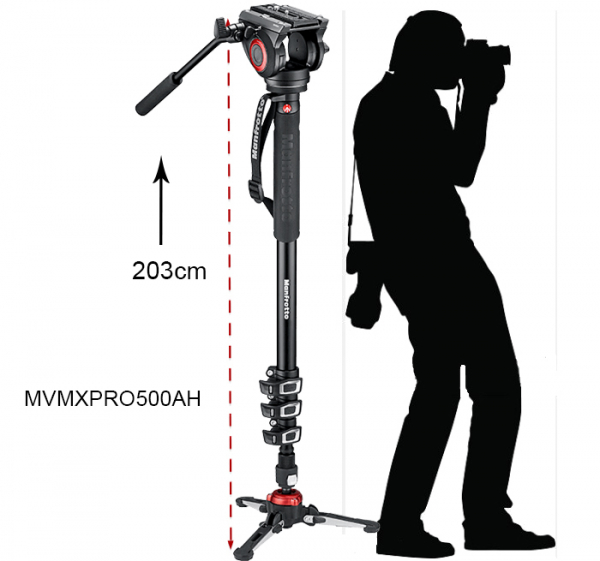 Manfrotto MVMXPRO500 monopied video cu baza Fluidtech 1