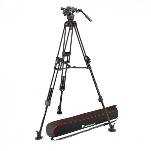 Manfrotto Nitrotech 608/645 Fast kit trepied video cu eliberare rapida 0