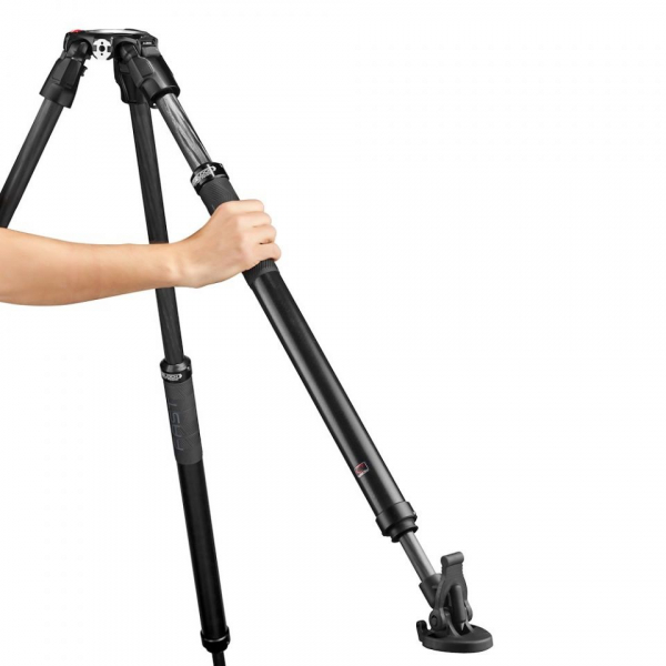 Manfrotto Nitrotech 612/ 635 Trepied video Fast Single Carbon [3]