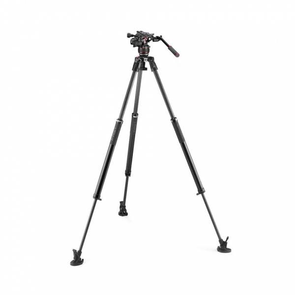 Manfrotto Nitrotech 612/ 635 Trepied video Fast Single Carbon [4]