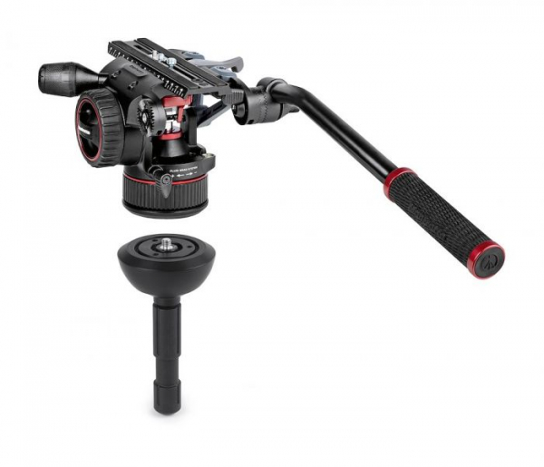 Manfrotto Nitrotech N12 KIT video carbon Twin leg cu mid-spreader 1
