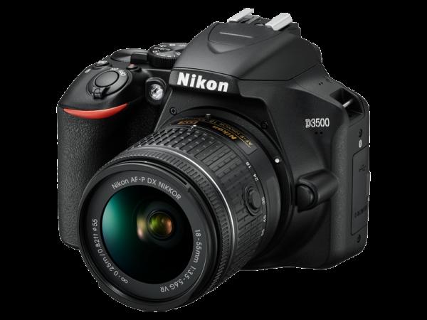 Nikon D3500 Aparat Foto DSLR DX Kit Obiectiv Nikkor AF-P 18-55mm VR 10