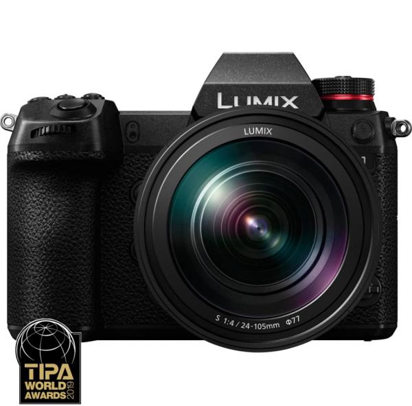 Panasonic Kit Aparat Foto Lumix S1 24MP cu Obiectiv 24-105mm F4 0