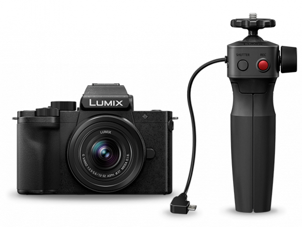 Panasonic Lumix DC-G100V cu obiectiv 12-32mm si grip wireless [1]
