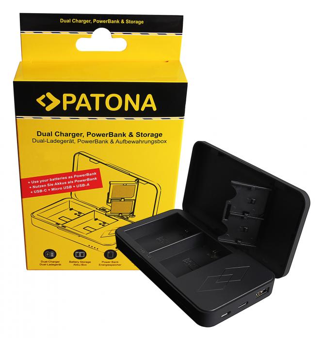 Patona Incarcator Dual 3în1 pentru Sony NP-FZ100 [0]