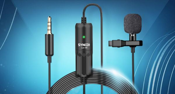 Synco S8 lavaliera cu fir 8m pentru camere, smartphoone, tablete sau recordere [4]