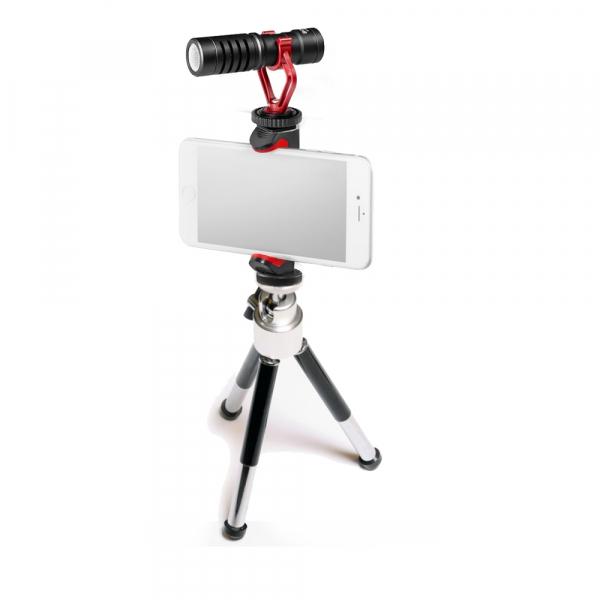 Primaphoto Kit trepied cu microfon si prindere pentru Vlogging 1