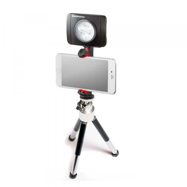 Primaphoto minitrepied cu LED 3 si suport pentru pentru vlogging 0