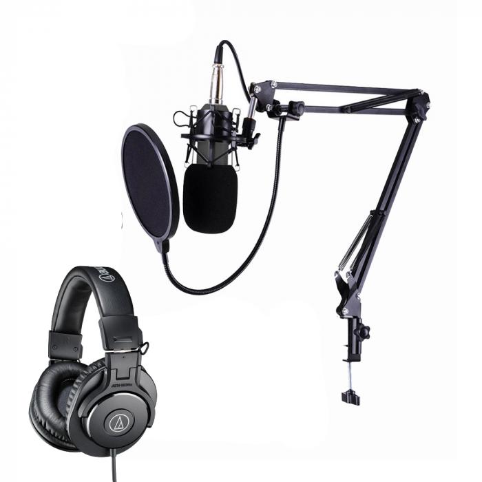 ProMic Kit Podcast Microfon USB cu casti ATH-M30X [0]