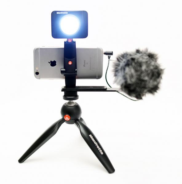 Manfrotto Kit pentru Vlogger cu minitrepied,  microfon si LED 6 5