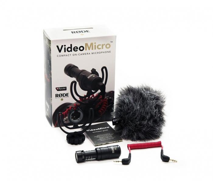 Rode Microfon VideoMicro vlogging video extern cardioid micro shotgun ultracompact [2]