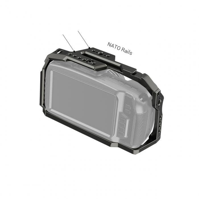 SmallRig Full Cage pentru Blackmagic Cinema Camera 4K si 6K (Dark Olive) 2766 [2]