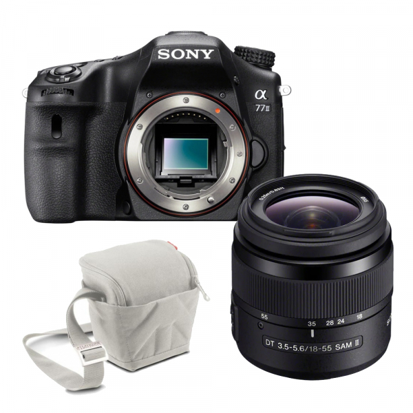 Sony Kit Aparat Foto A77 II DSLR 24.3MP CMOS 18-55mm f 3,5–5,6 SAM II 0