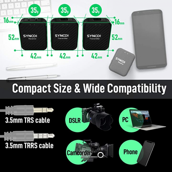 Synco G1(A2) Lavaliera Wireless Dubla [10]