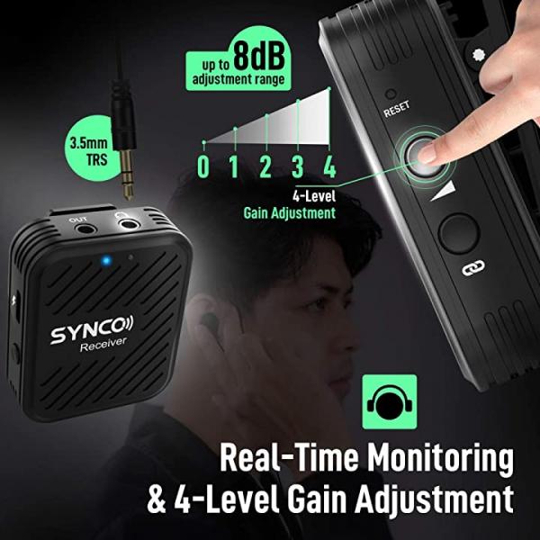 Synco G1(A2) Lavaliera Wireless Dubla [7]
