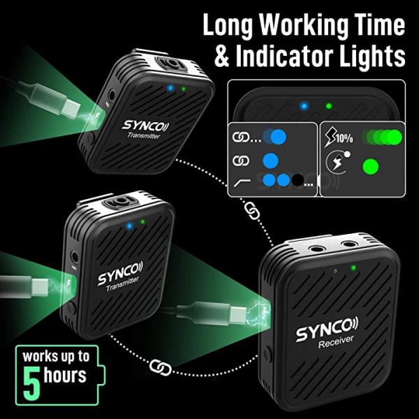 Synco G1(A2) Lavaliera Wireless Dubla [9]