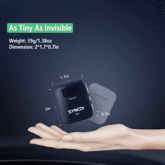 Synco G2 (A1) Lavaliera Wireless cu microfon incorporat [7]