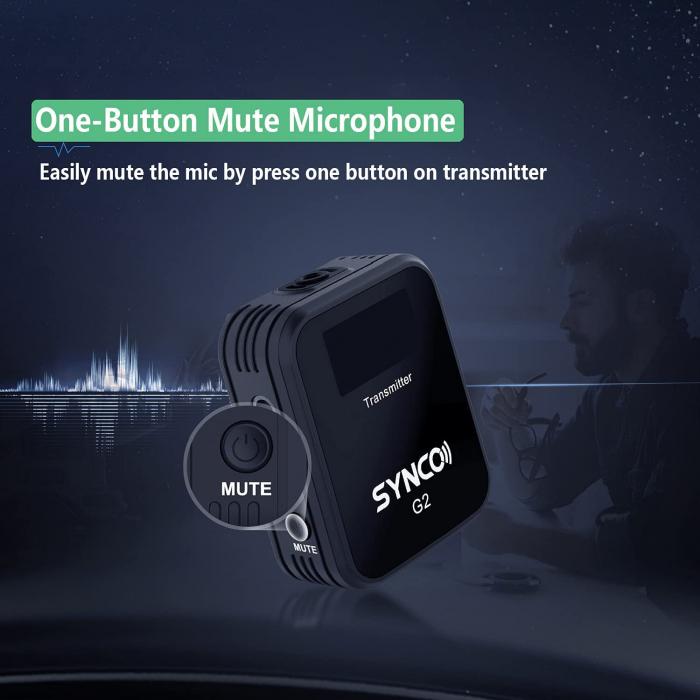 Synco G2 (A1) Lavaliera Wireless cu microfon incorporat [10]