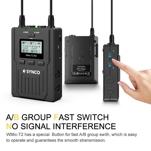 Synco Lavaliera Wireless WMic-T2 cu Transmitter dual [1]