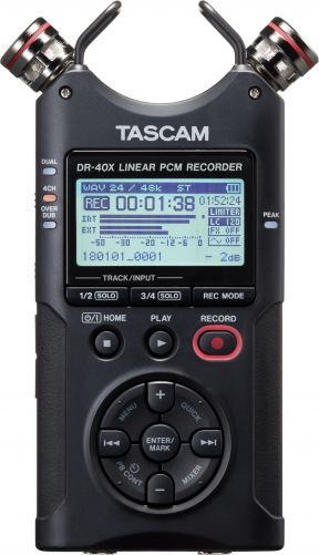 Tascam DR-40X recorder audio handheld 0