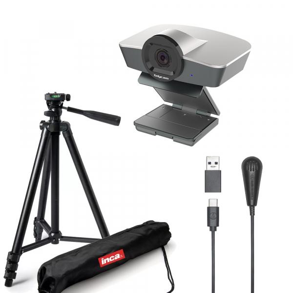 Kit Lector cu Camera WEB Full HD 1080 12MP Zoom 4X USB 2.0 cu microfon si trepied 0