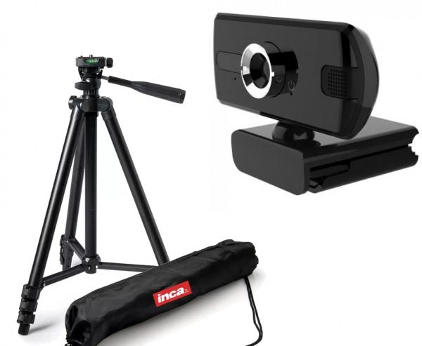 Kit lector Camera Web Full HD 1080 USB 2MP cu microfon si trepied 0