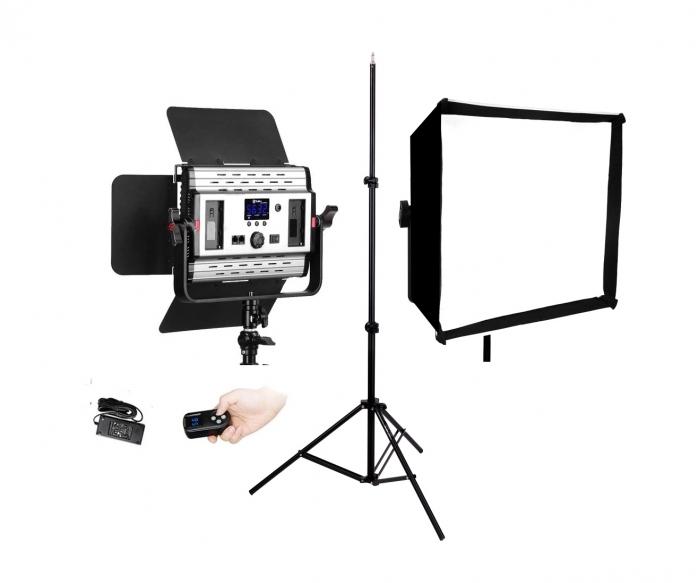 Tolifo GK-S36B Lampa Video LED Bicolorcu stativ si softbox 0